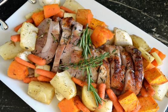 Pork Loin Roast Recipe Slow Cooker With Vegetables  Pork Loin Roast With Roasted Root Ve ables Recipe