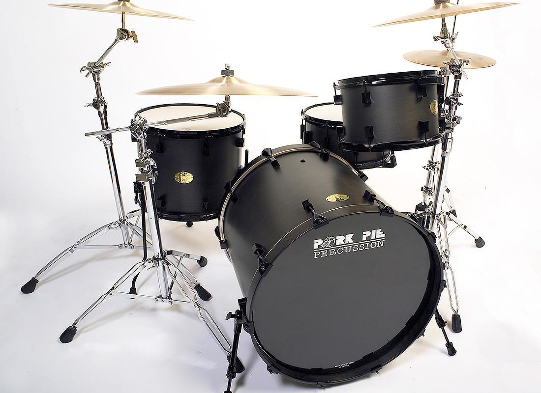 Pork Pie Drums  Ebony Satin Squealer Kit – Pork Pie Percussion