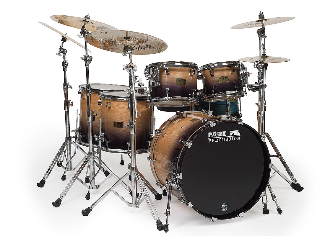Pork Pie Drums  Oak Kit with Candy Black Fade – Pork Pie Percussion