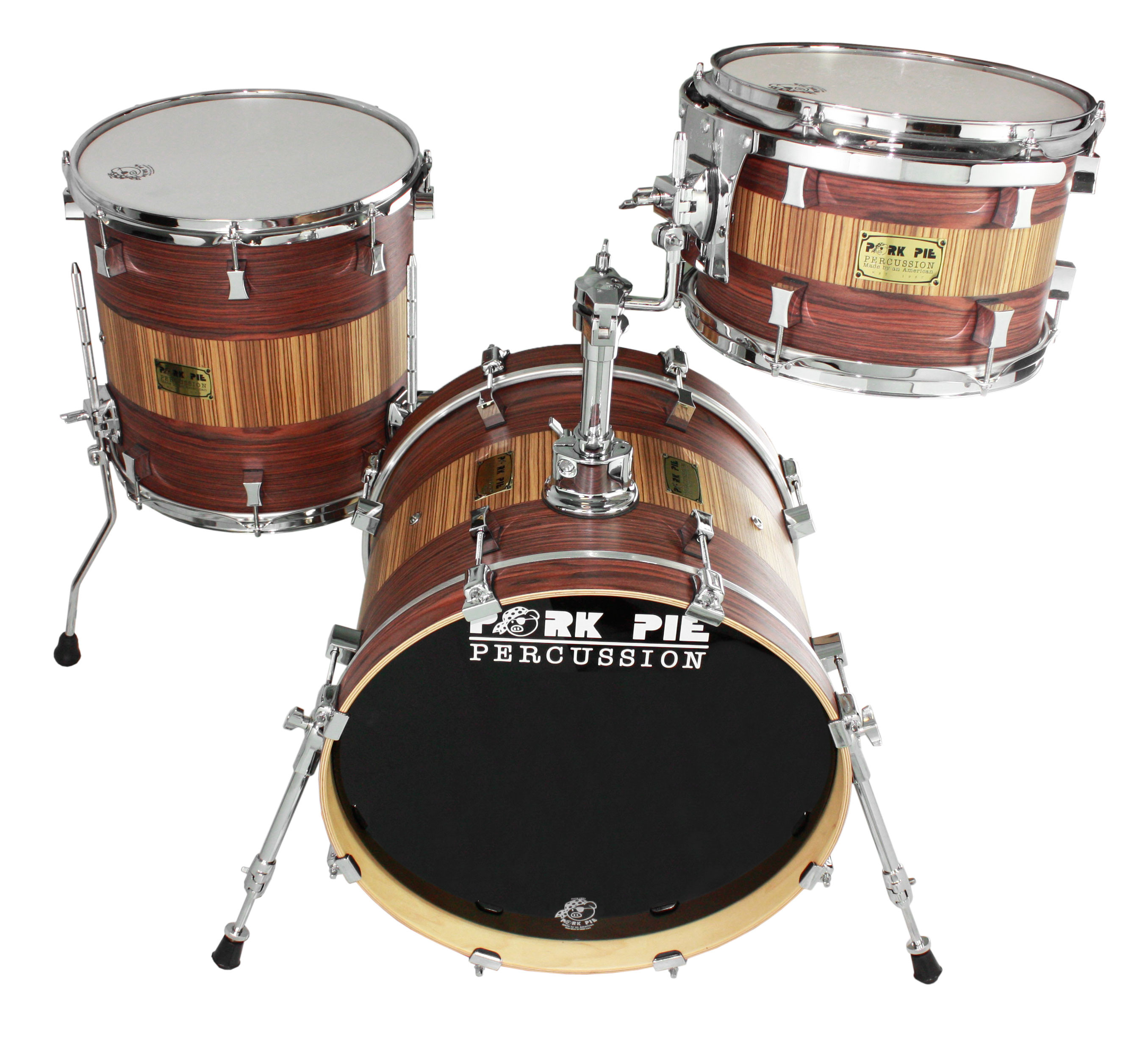 Pork Pie Drums  Pork Pie Percussion USA Bop 3 Piece Drum Set Shell Pack
