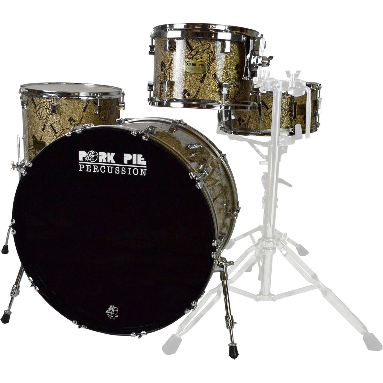 Pork Pie Drums  Pork Pie USA Custom Maple 4 Piece Drum Set Shell Pack in