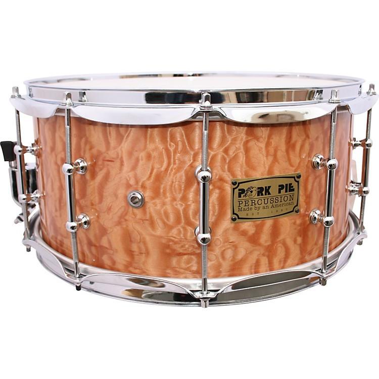 Pork Pie Drums  Pork Pie Solid Quilted Maple Snare Drum