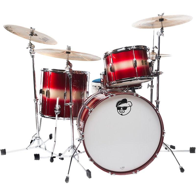 Pork Pie Drums  Pork Pie Percussion Hip Pig 3 Piece Drum Set Shell Pack