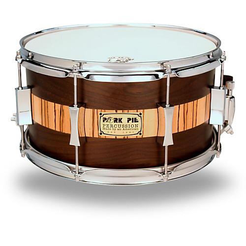 Pork Pie Snare  Pork Pie Exotic Rosewood Zebrawood Snare Drum