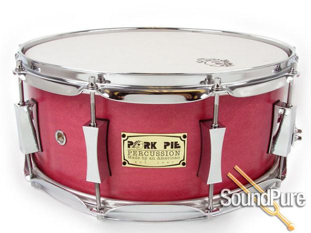 Pork Pie Snare  Pork Pie 6x14 Maple Snare Drum Pink