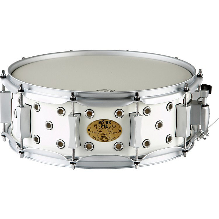 Pork Pie Snare  Pork Pie White Satin Little Squealer Snare Drum