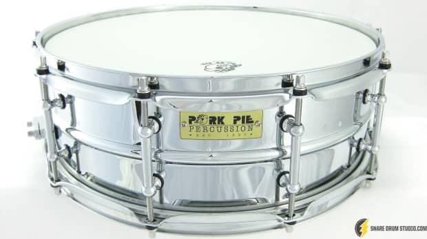 Pork Pie Snare  Pork Pie Aluminum 5x14 Chrome Plated Snare Drum