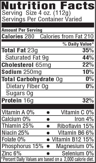Pork Ribs Nutrition  Tender Choice Spare Ribs