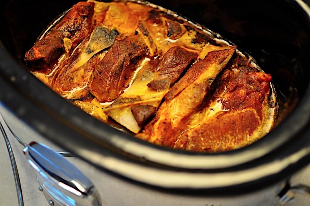 Pork Shoulder Ribs  Slow Cooker Pork Western Shoulder Ribs with Barbecue Rub