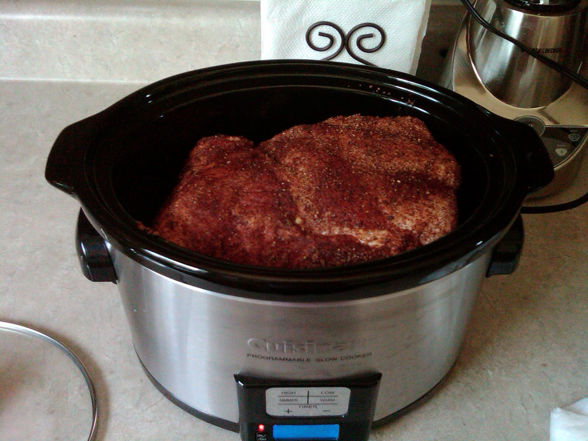 Pork Shoulder Roast Slow Cooker  pork shoulder rub slow cooker