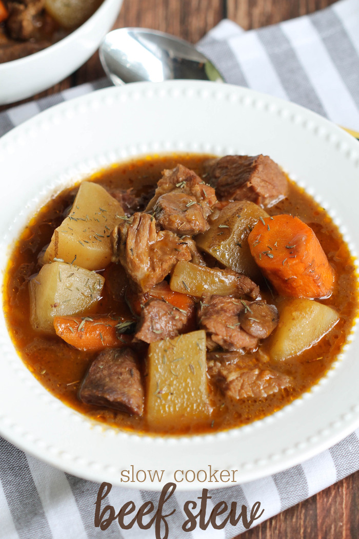 Pork Stew Recipe Slow Cooker  Slow Cooker Cheater Pork Stew Recipe — Dishmaps