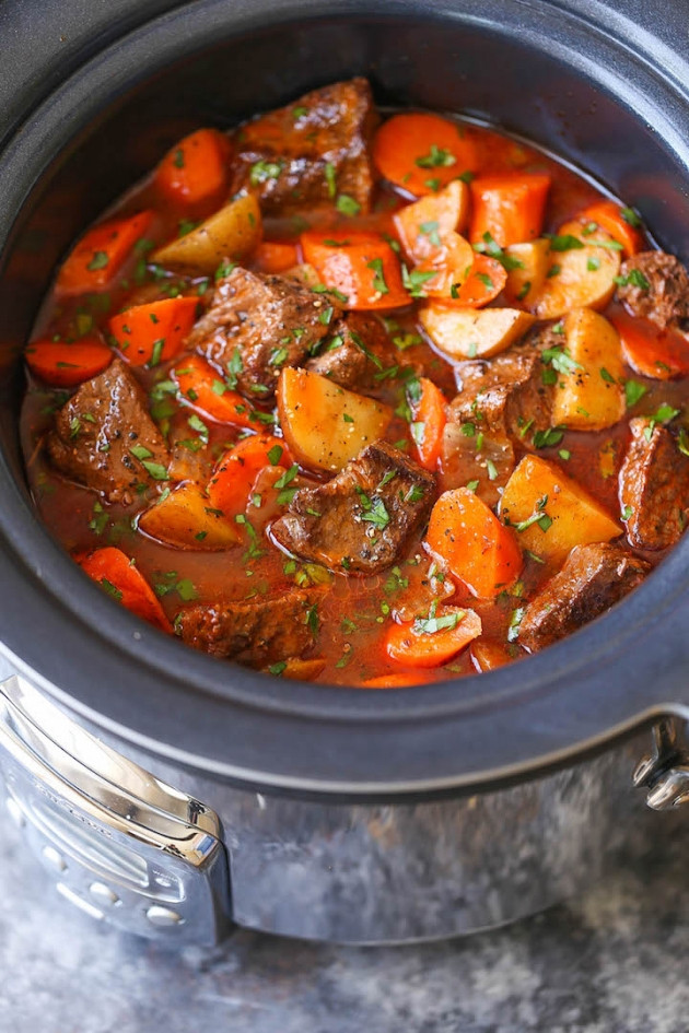 Pork Stew Recipe Slow Cooker  Slow Cooker Beef Stew Recipe — Dishmaps