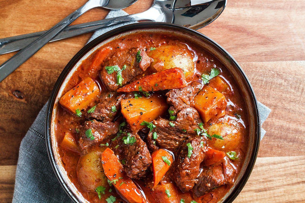 Pork Stew Recipe Slow Cooker  Slow Cooker Beef Stew Recipe with Butternut Carrot and