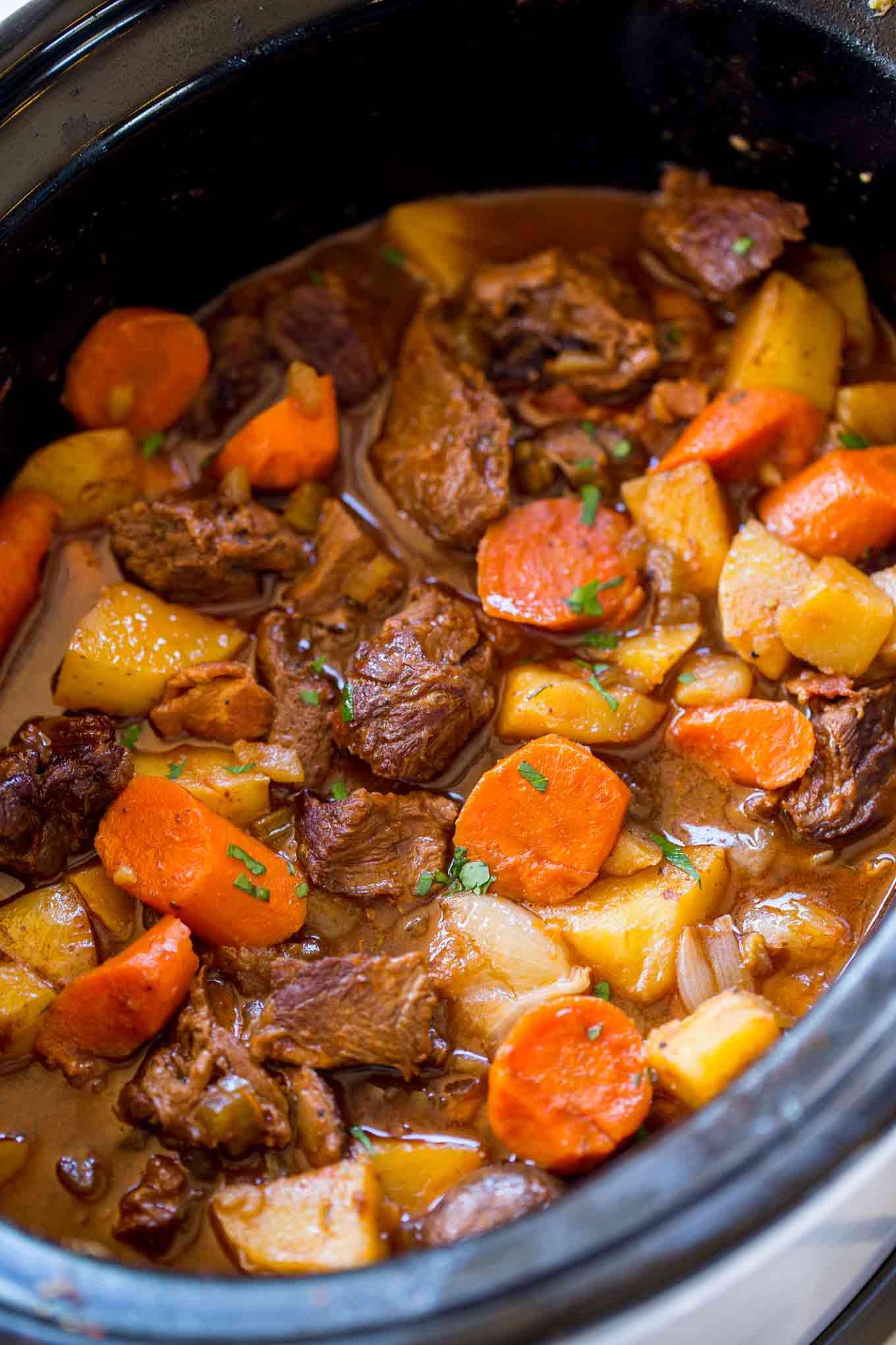 Pork Stew Slow Cooker  Slow Cooker Guinness Beef Stew Dinner then Dessert