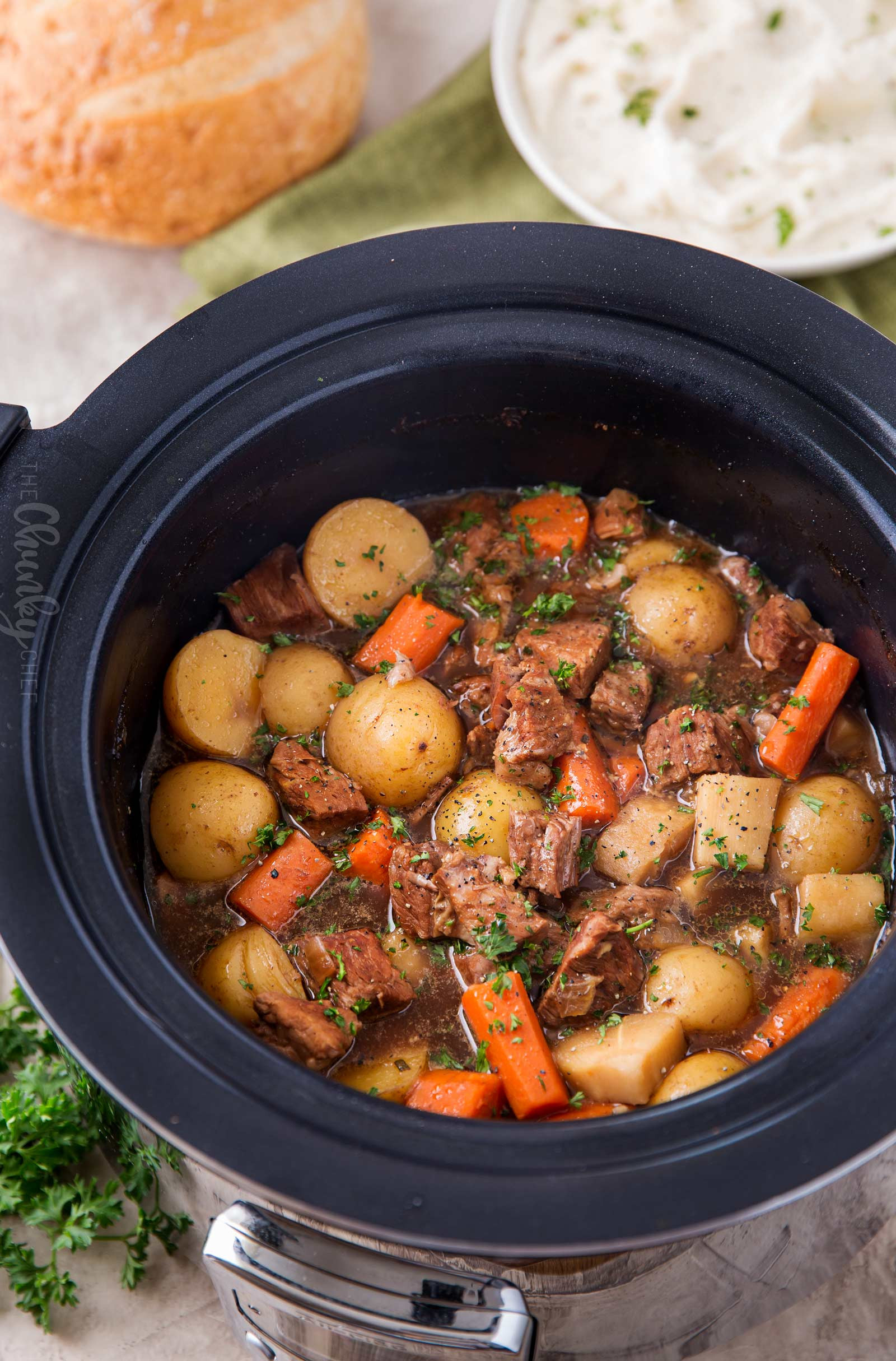 Pork Stew Slow Cooker  Beer and Horseradish Slow Cooker Beef Stew The Chunky Chef