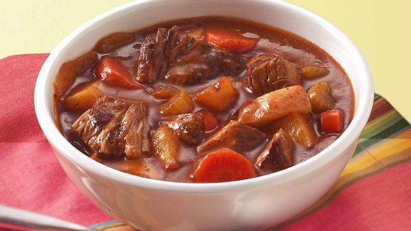 Pork Stew Slow Cooker  Slow Cooker Old Fashioned Beef Stew Recipe BettyCrocker