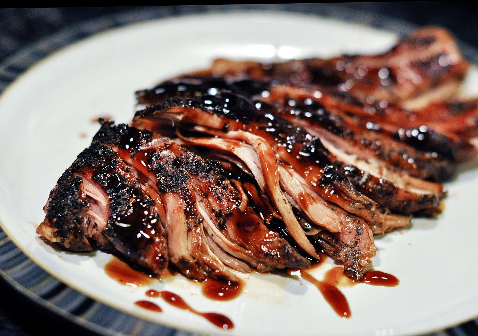 Pork Tenderloin In Crock Pot  crock pot brown sugar and balsamic glazed pork loin