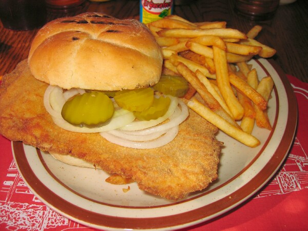 Pork Tenderloin Sandwich  Pork tenderloin sandwich