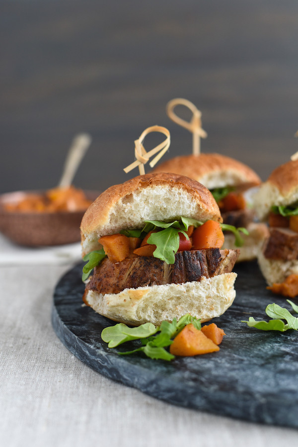 Pork Tenderloin Sliders  Pork Tenderloin Sliders with Spiced Apple pote Foxes