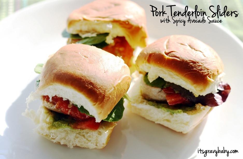 Pork Tenderloin Sliders  Pork Tenderloin Sliders with Spicy Avocado Sauce Recipe