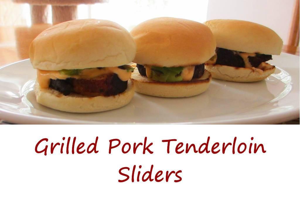 Pork Tenderloin Sliders  Grilled Pork Tenderloin Sliders with Chipotle Lime