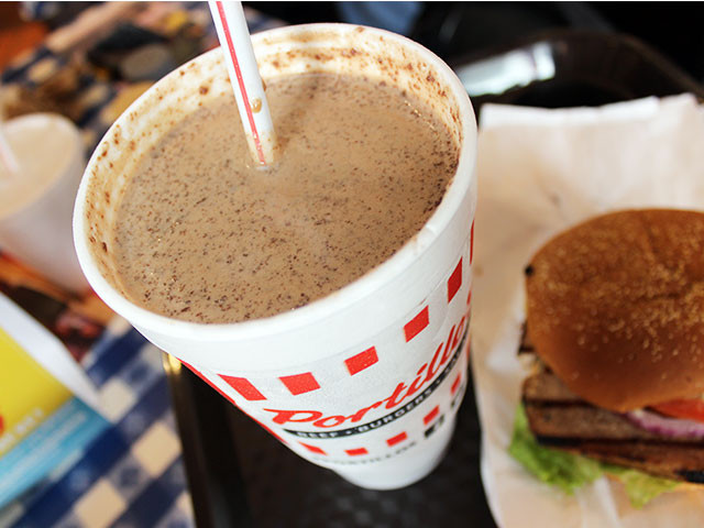 Portillos Chocolate Cake Shake  Does Portillo s taste as good outside of Chicago We dine