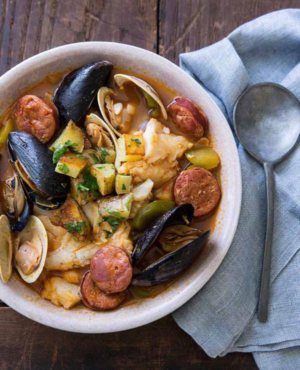 Portuguese Seafood Stew  Portuguese Seafood Stew with Chouriço Storey Publishing