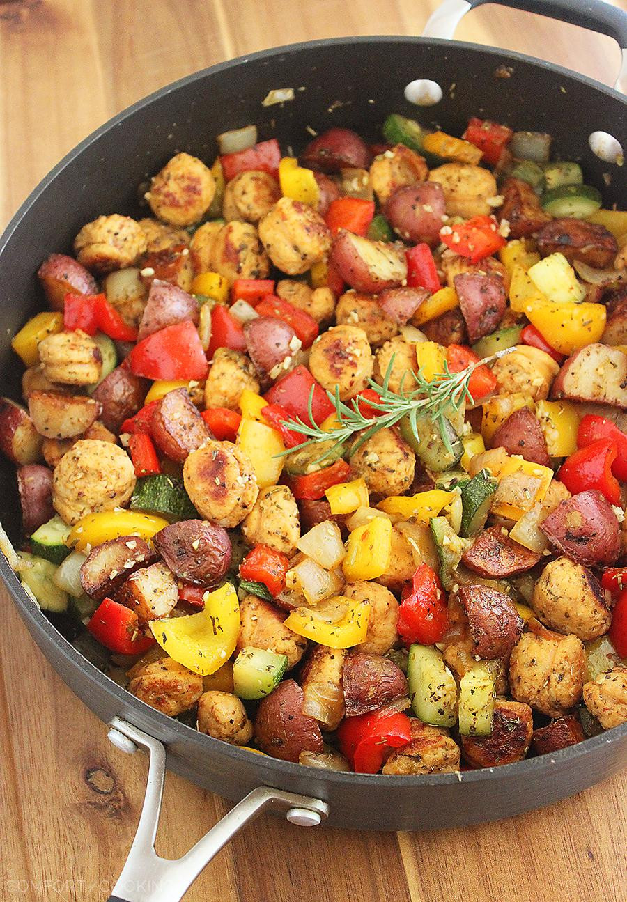 Potato A Vegetable  Summer Ve able Sausage and Potato Skillet