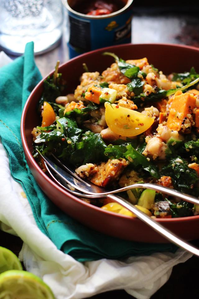 Potato Bowl 2018  Honey Chipotle Roasted Tofu and Sweet Potato Bowls with