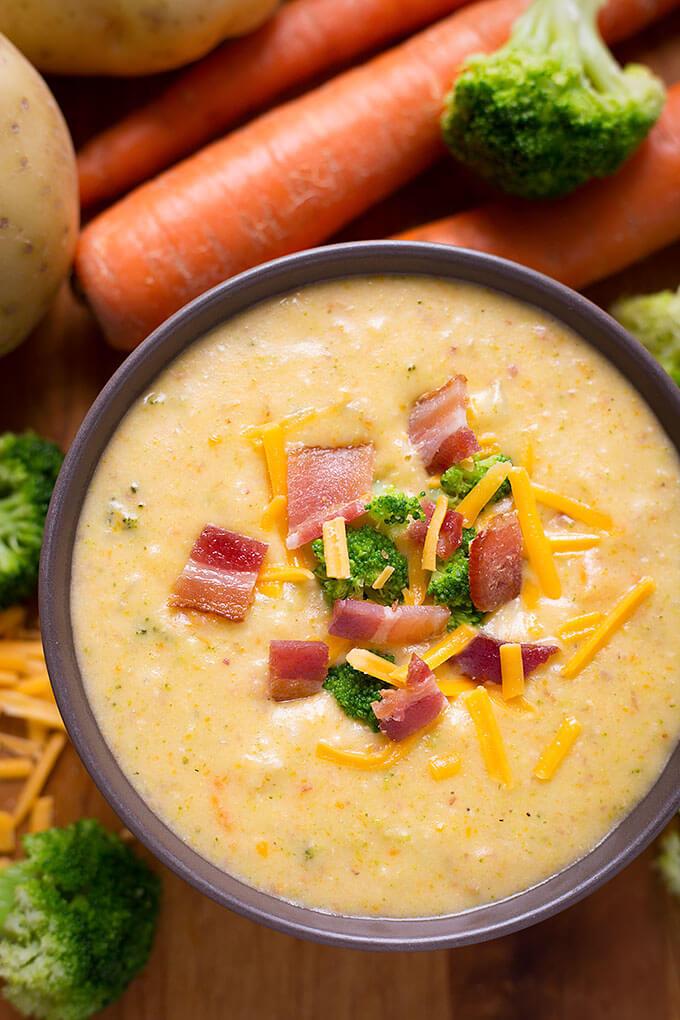 Potato Broccoli Soup  Loaded Broccoli Cheese & Potato Soup