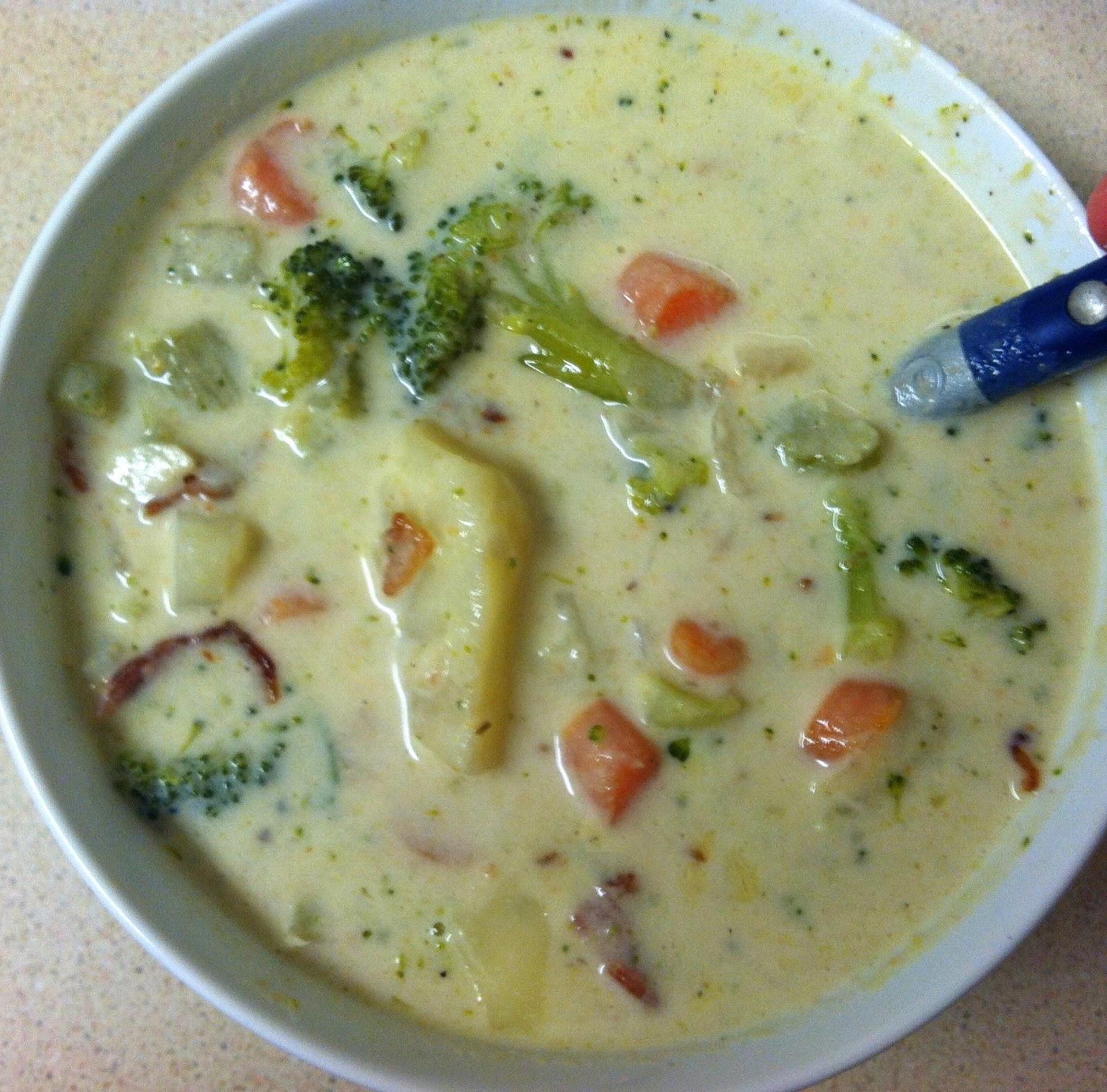 Potato Broccoli Soup  Taste and See Potato Broccoli Soup with Bacon and Parmesan