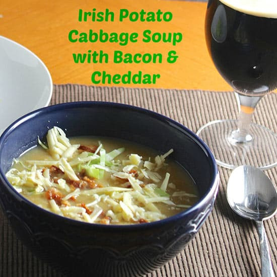 Potato Cabbage Soup  Irish Potato Cabbage Soup with Bacon and Cheddar