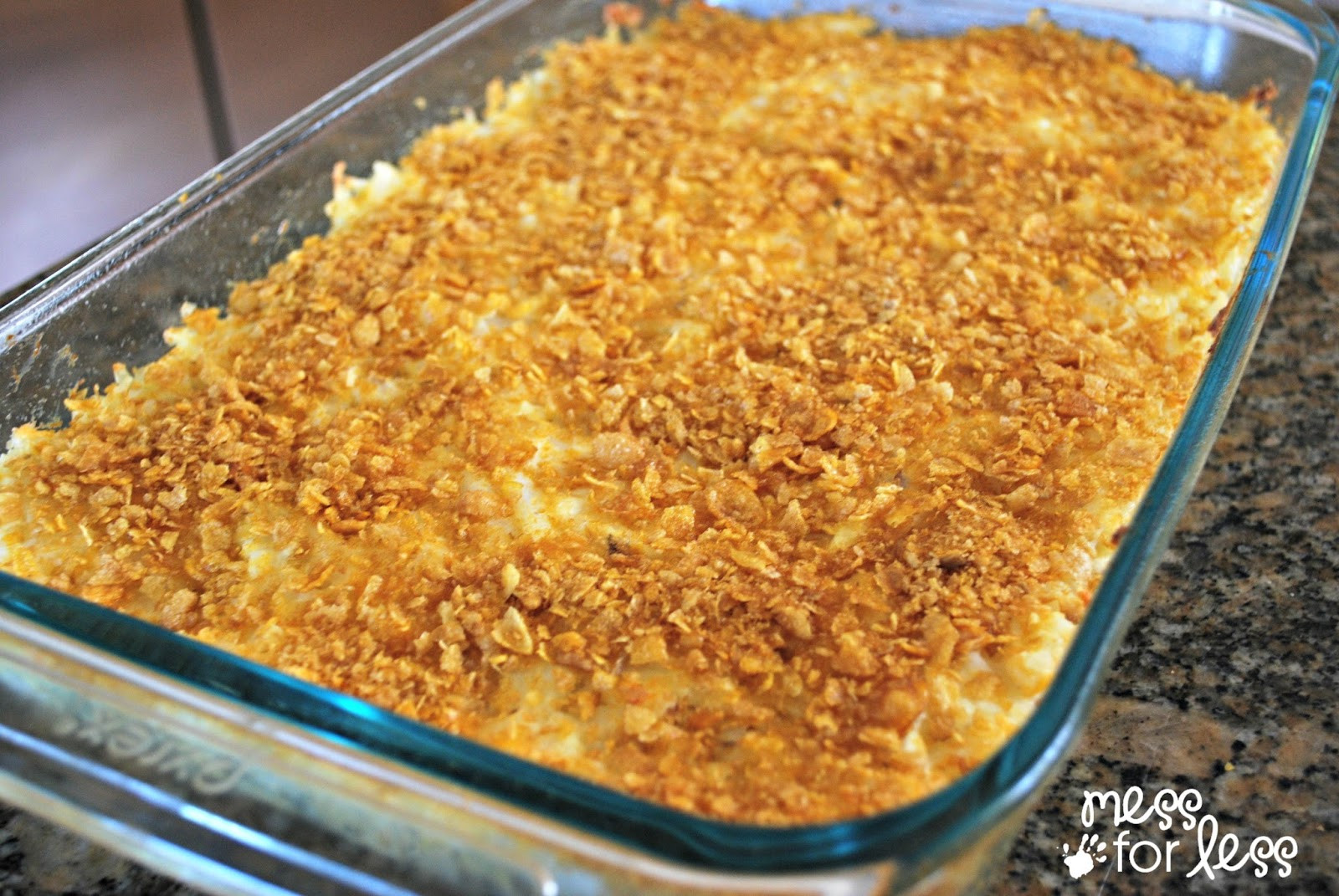 Potato Casserole With Corn Flakes  Corn Flake Topped Hash Brown Casserole Food Fun Friday