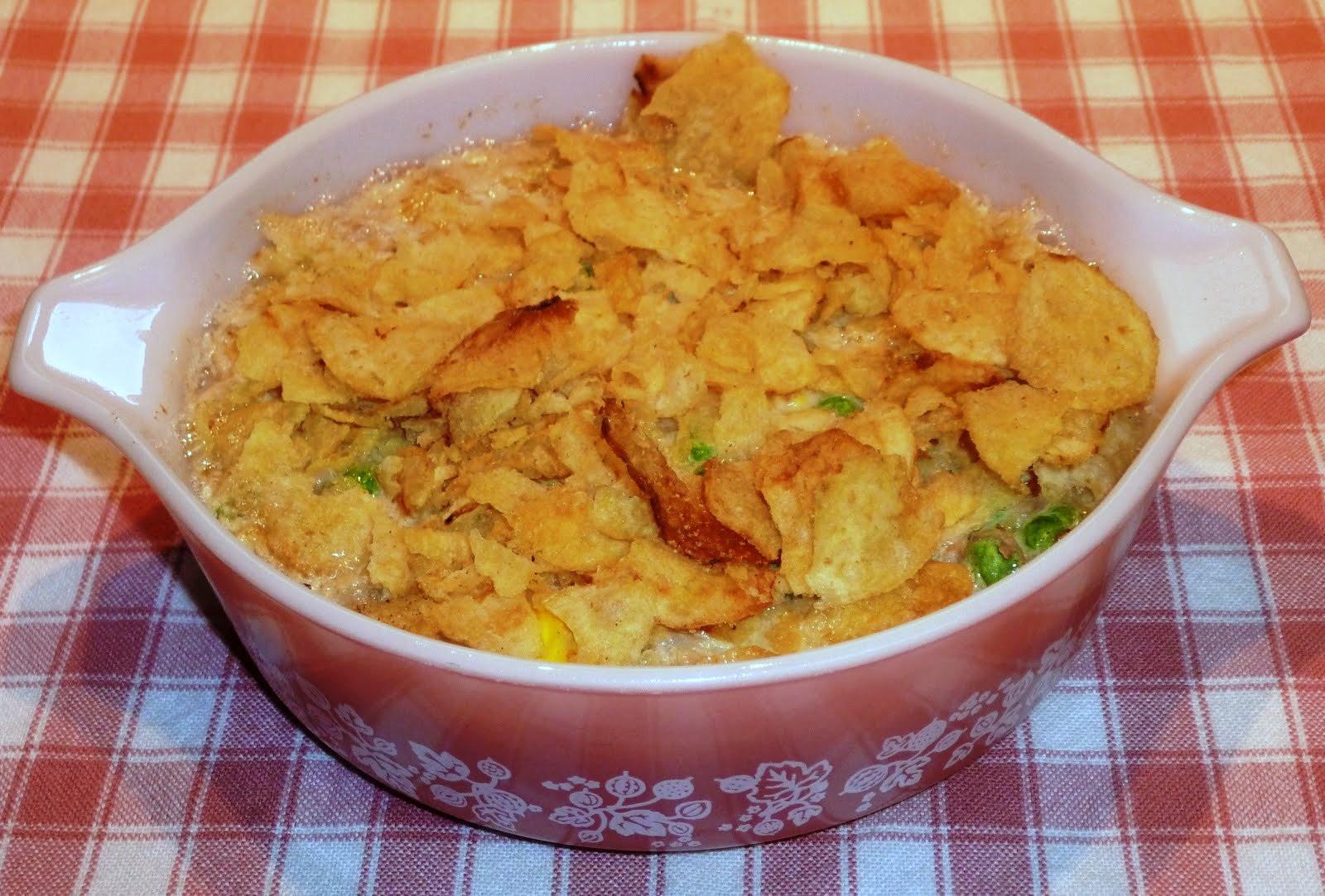 Potato Chip Casserole  The Iowa Housewife Tuna Potato Chip Casserole