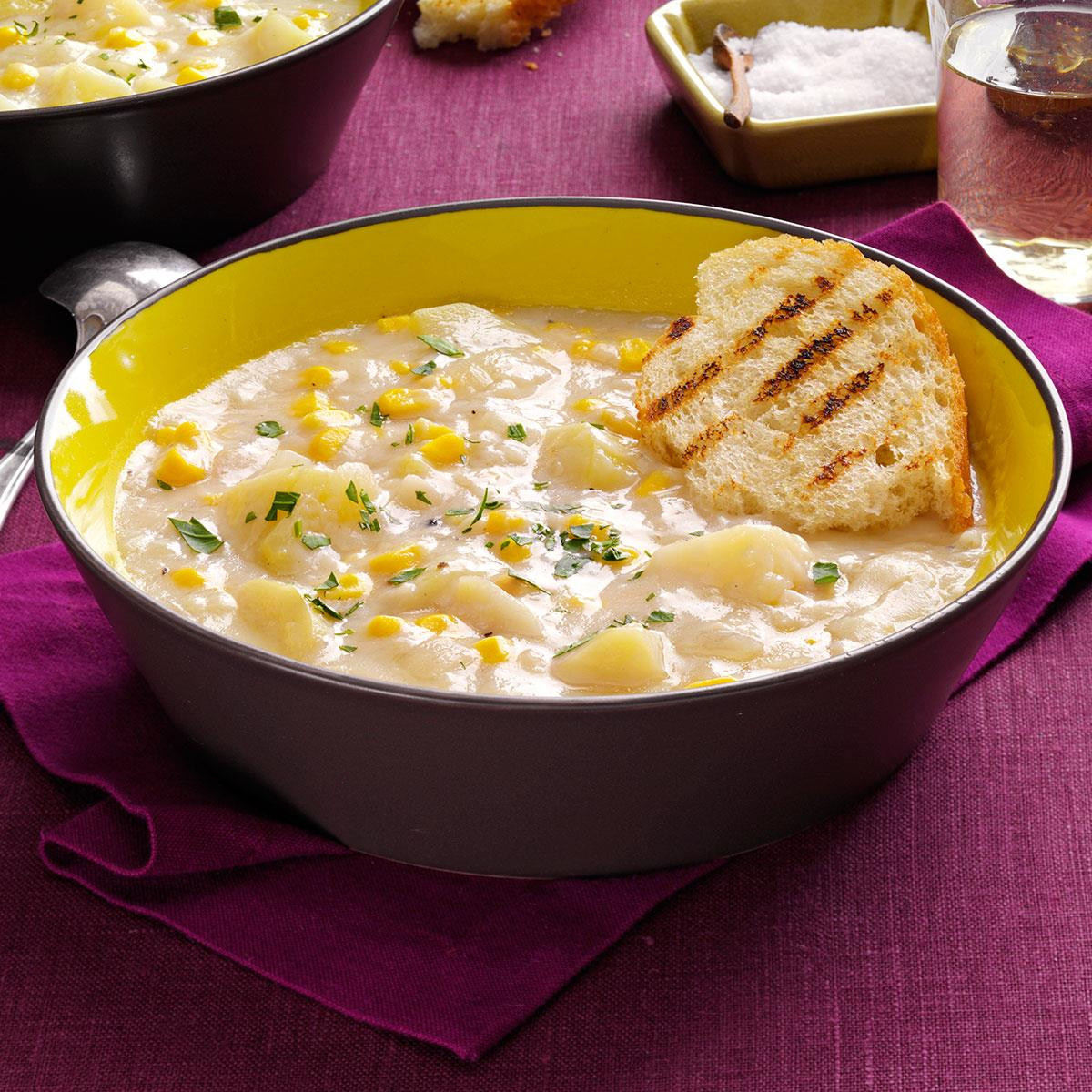 Potato Corn Chowder  Quick Potato Corn Chowder Recipe