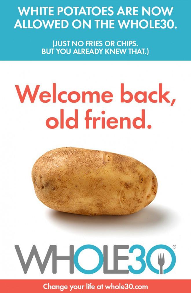 Potato Diet Rules  New Whole30 Program Rules