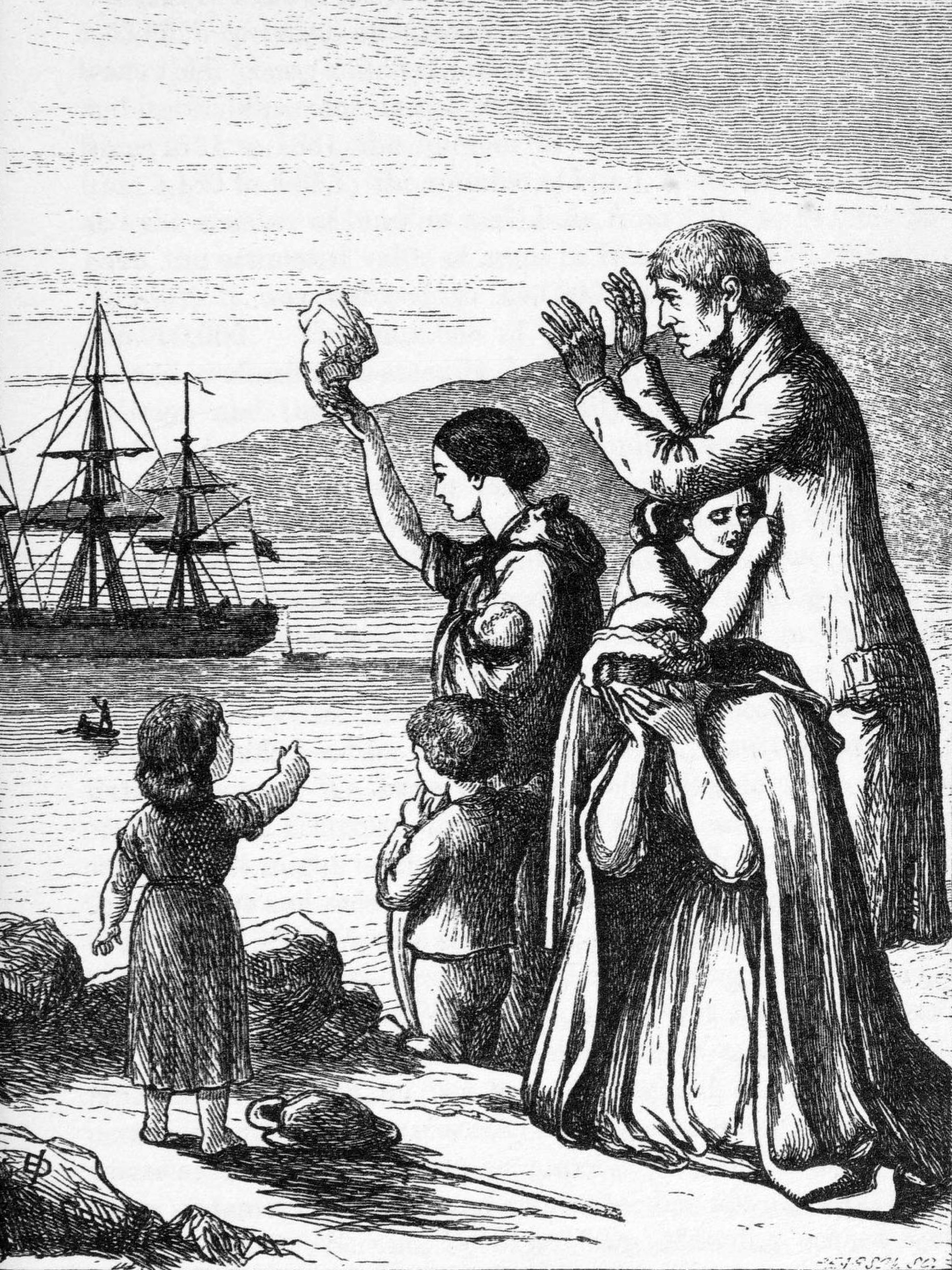 Potato Famine Ireland  Setting Sail Irish Immigration During the Potato Famine