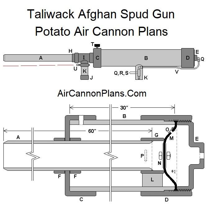 Potato Gun Plans  Taliwack Potato Air Cannon Plans