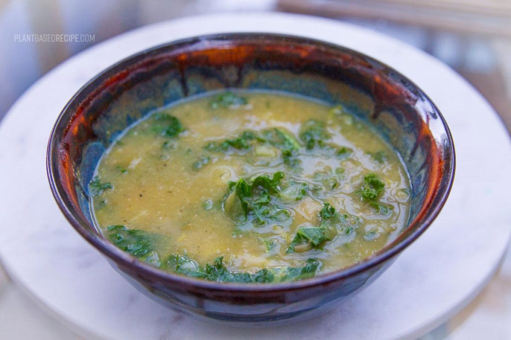 Potato Kale Soup  Creamy Kale Potato and Leek Soup Vegan Low Fat