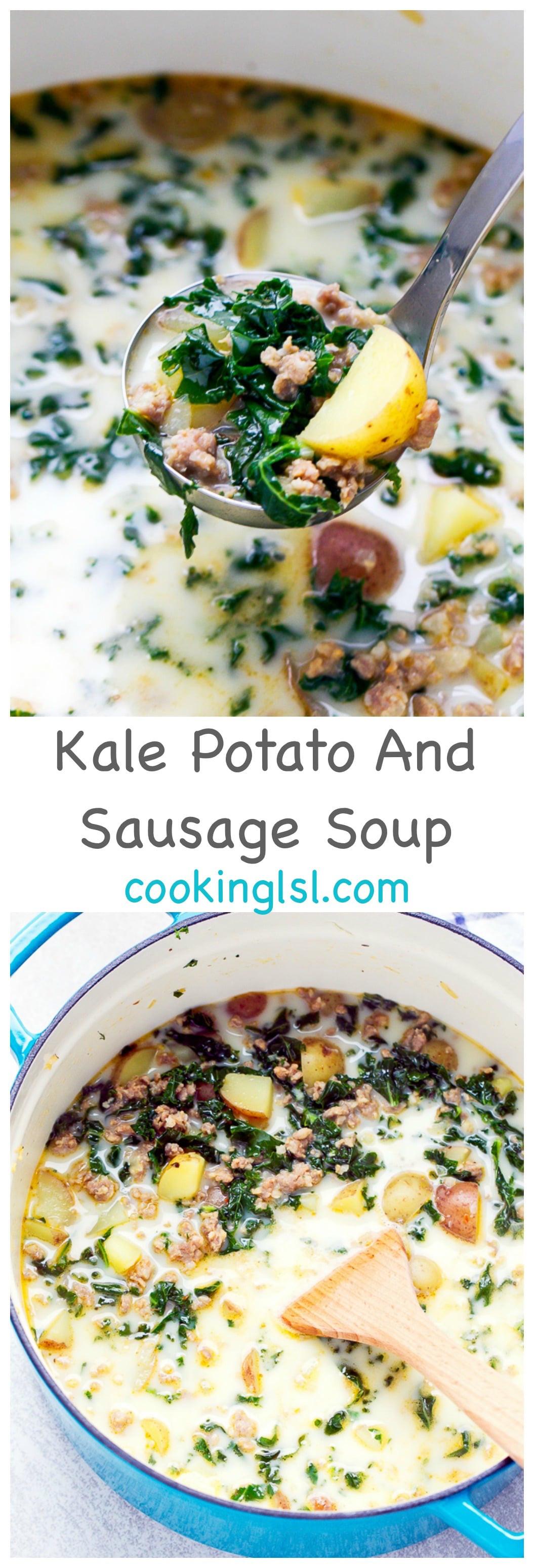 Potato Kale Soup  Easy Kale Potato And Sausage Soup Recipe Cooking LSL