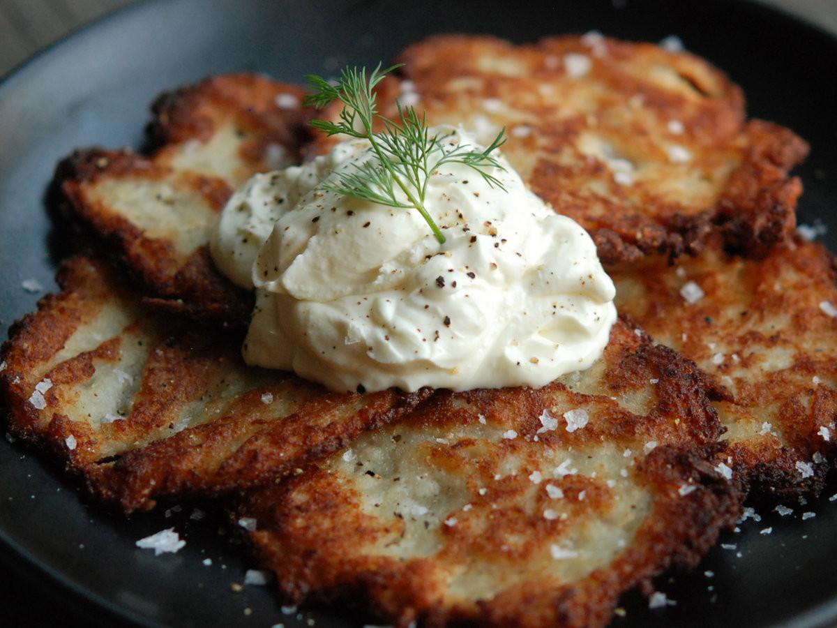 Potato Latke Recipe  Killer Potato Latkes Recipe Andrew Zimmern
