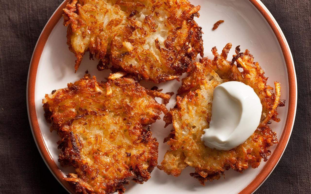 Potato Latke Recipe  Latkes Potato Pancakes Recipe Chowhound