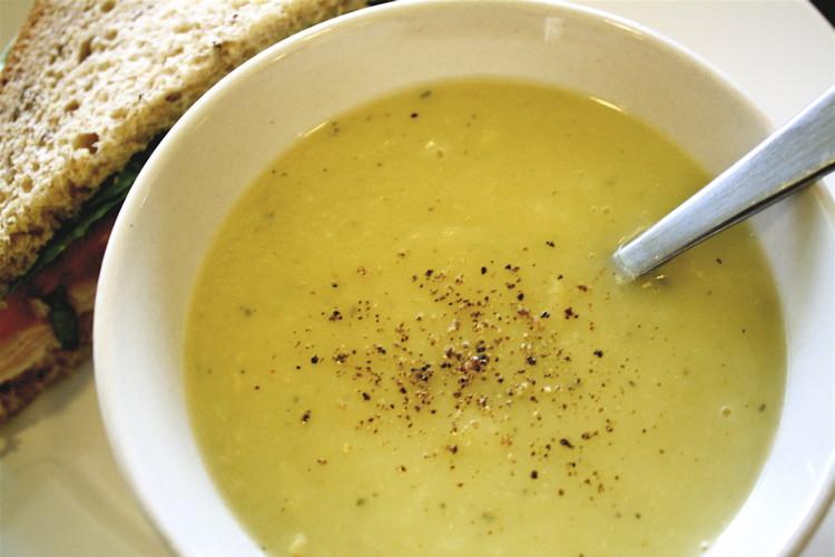 Potato Leak Soup  leek potato soup