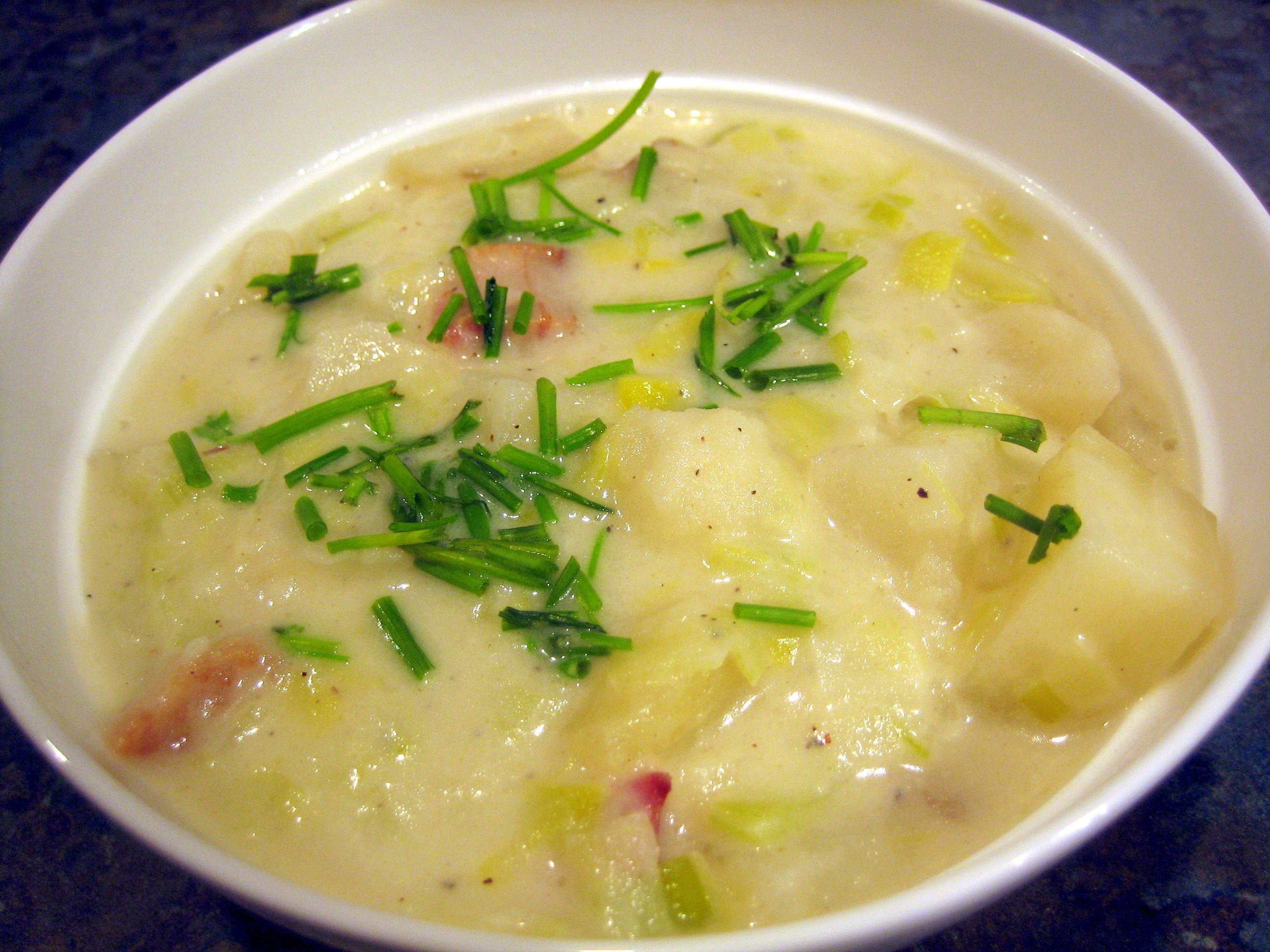 Potato Leak Soup  potato leek soup
