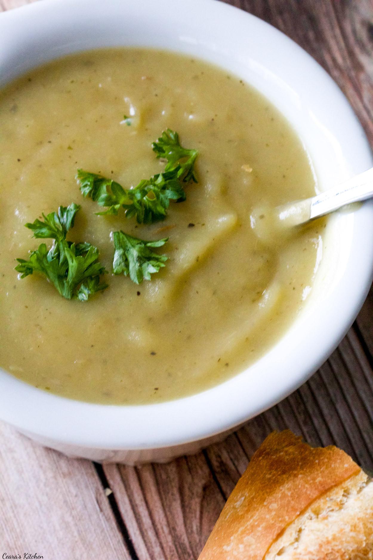 Potato Leak Soup  Vegan Potato Leek Soup