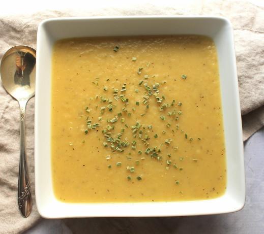 Potato Leek Soup No Cream  Potato And Leek Soup Creamy But No Cream Recipe Food