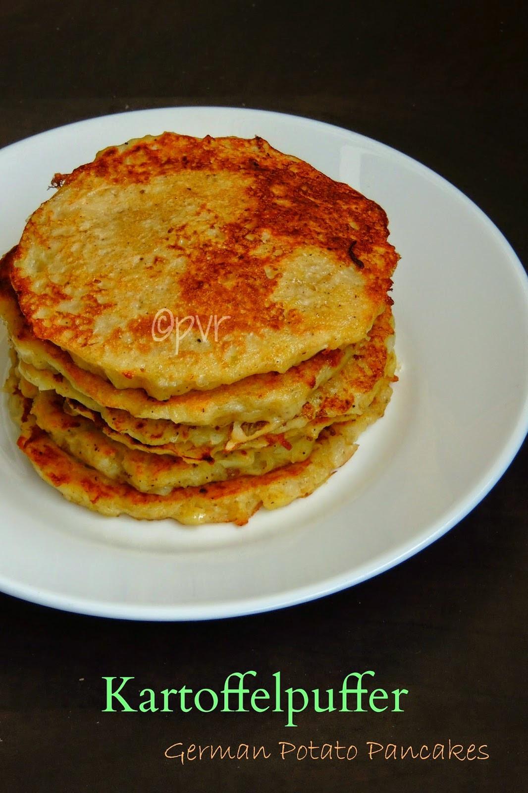 Potato Pancakes German  Priya s Versatile Recipes Kartoffelpuffer German Potato