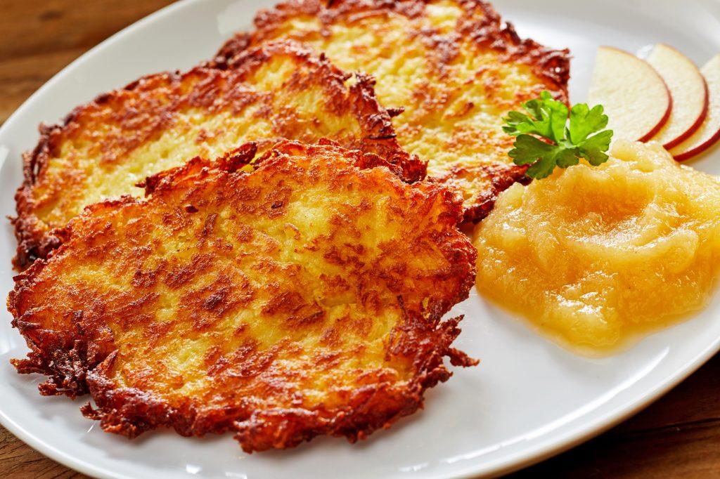 Potato Pancakes German  Traditional Kartoffelpuffer German Potato Pancakes The