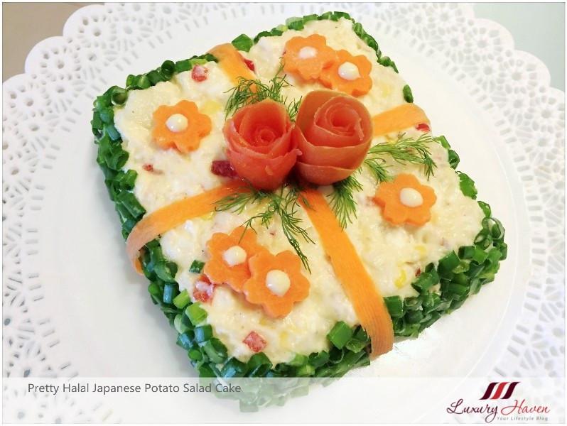 Potato Salad Cake  Halal Japanese Potato Salad Cake A Tasty Eye Candy Recipe