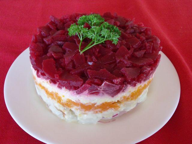 Potato Salad Cake  A Twisted Xmas Cake Fancy Potato Salad in Disguise